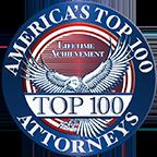 Top 100 Attorneys Lifetime Achievment Seal